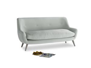 Medium Berlin Sofa in Eggshell grey clever cotton