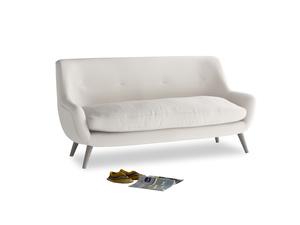 Medium Berlin Sofa in Chalk clever cotton