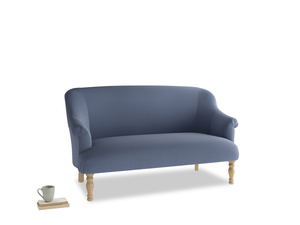 Medium Sweetie Sofa in Breton blue clever cotton
