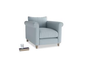 Weekender Armchair in Scandi blue clever cotton