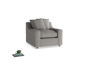Cloud Armchair in Marl grey clever woolly fabric