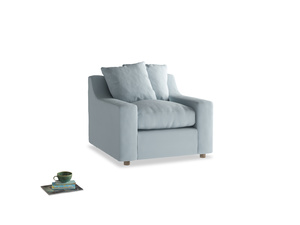 Cloud Armchair in Scandi blue clever cotton