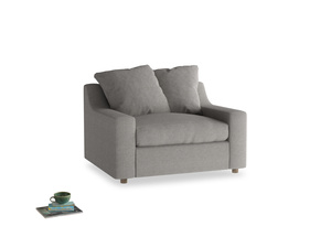 Cloud Love seat in Marl grey clever woolly fabric