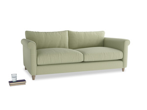 Large Weekender Sofa in Old sage washed cotton linen