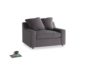 Cloud Love seat in Graphite grey clever cotton