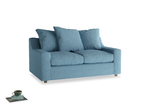 Small Cloud Sofa in Moroccan blue clever woolly fabric
