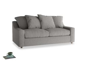 Medium Cloud Sofa in Marl grey clever woolly fabric