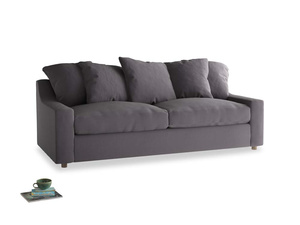 Large Cloud Sofa in Graphite grey clever cotton