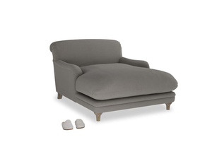 Pudding Love seat chaise in Monsoon grey clever cotton