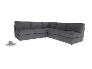 Even Sided  Chatnap modular corner storage sofa in Strong grey clever woolly fabric