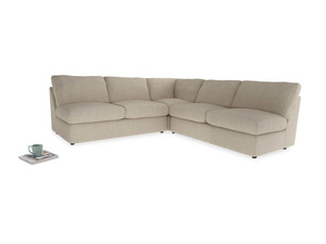 Even Sided  Chatnap modular corner storage sofa in Flagstone clever woolly fabric