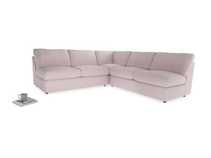 Even Sided  Chatnap modular corner storage sofa in Dusky blossom washed cotton linen