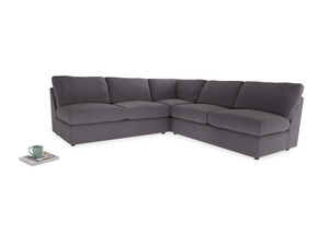 Even Sided  Chatnap modular corner storage sofa in Graphite grey clever cotton