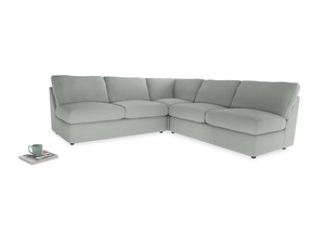 Even Sided  Chatnap modular corner storage sofa in Eggshell grey clever cotton