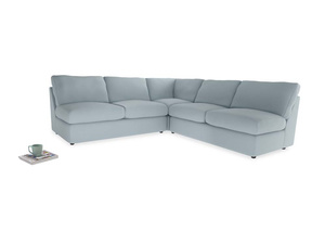 Even Sided  Chatnap modular corner storage sofa in Scandi blue clever cotton
