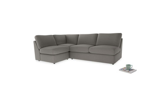 Large left hand Chatnap modular corner sofa bed in Monsoon grey clever cotton