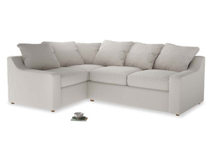 Large Left Hand Cloud Corner Sofa in Chalk clever cotton