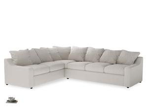 Xl Left Hand Cloud Corner Sofa in Chalk clever cotton