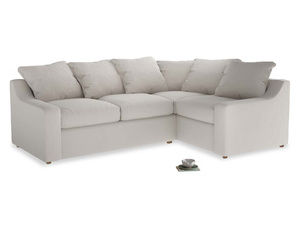 Large Right Hand Cloud Corner Sofa in Chalk clever cotton