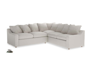 Even Sided Cloud Corner Sofa in Chalk clever cotton