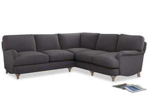 Even Sided Jonesy Corner Sofa in Graphite grey clever cotton