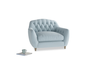Love Seat Butterbump Love Seat in Soothing blue washed cotton linen