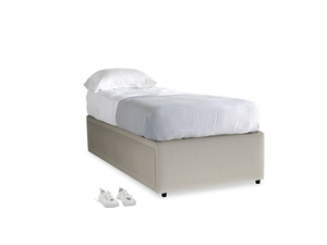 Single Friends Trundle Bed in Smoky Grey clever velvet