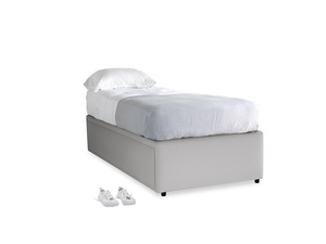 Single Friends Trundle Bed in Flint brushed cotton