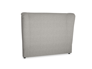 Double Hugger Headboard in Marl grey clever woolly fabric
