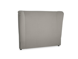 Double Hugger Headboard in Monsoon grey clever cotton