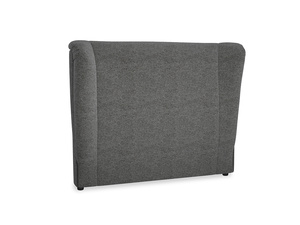 Double Hugger Headboard in Shadow Grey wool