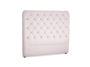 Double Tall Billow Headboard in Dusky blossom washed cotton linen