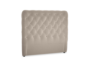 Double Tall Billow Headboard in Fawn clever velvet