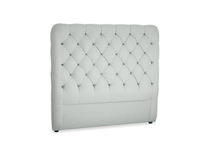 Double Tall Billow Headboard in French blue brushed cotton