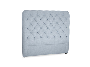 Double Tall Billow Headboard in Frost clever woolly fabric