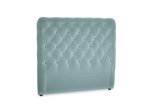 Double Tall Billow Headboard in Lagoon clever velvet