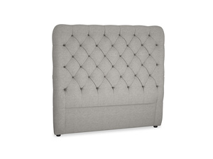 Double Tall Billow Headboard in Marl grey clever woolly fabric