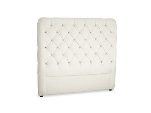 Double Tall Billow Headboard in Oat brushed cotton