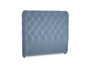 Double Tall Billow Headboard in Winter Sky clever velvet