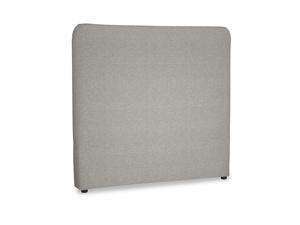 Double Ruffle Headboard in Marl grey clever woolly fabric
