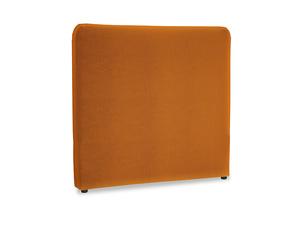 Double Ruffle Headboard in Spiced Orange clever velvet