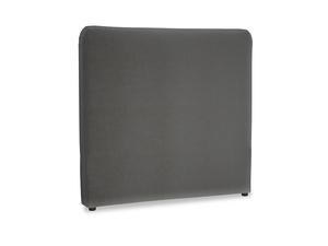 Double Ruffle Headboard in Steel clever velvet