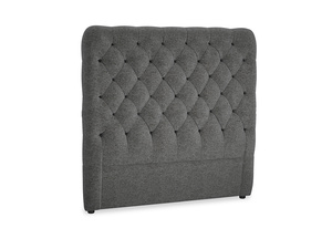 Double Tall Billow Headboard in Shadow Grey wool