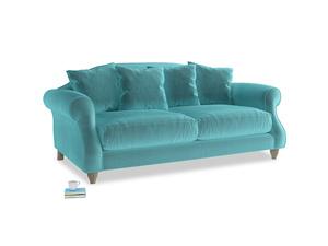 Medium Sloucher Sofa in Belize clever velvet