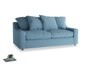 Medium Cloud Sofa in Moroccan blue clever woolly fabric