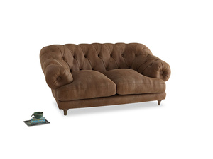 Small Bagsie Sofa in Walnut beaten leather