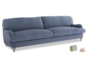 Extra large Jonesy Sofa in Breton blue clever cotton