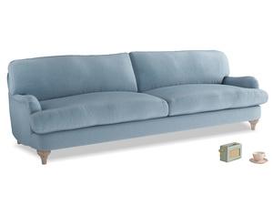 Extra large Jonesy Sofa in Chalky blue vintage velvet
