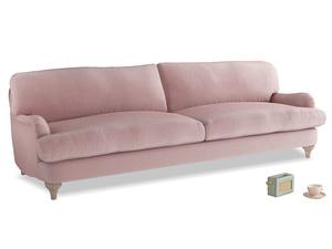 Extra large Jonesy Sofa in Chalky Pink vintage velvet