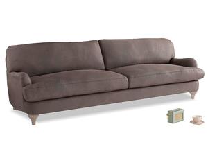 Extra large Jonesy Sofa in Dark Chocolate beaten leather